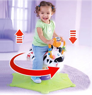 92925dfe0 Amazon.com  Fisher-Price Go Baby Go! Bounce   Spin Zebra ...