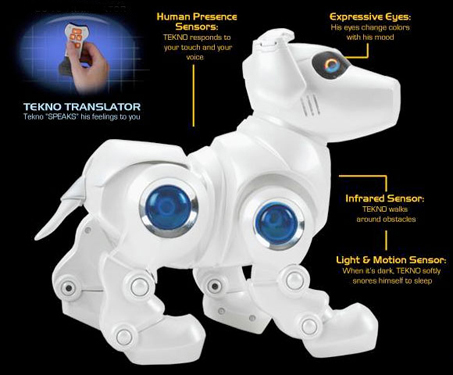Amazon Com Tekno The Robotic Puppy Silver Toys Games
