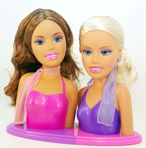 Amazon Com Mattel Barbie Fashion Fever Styling Heads