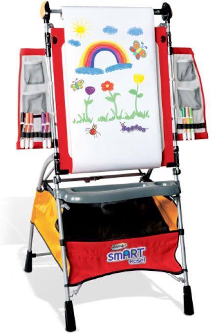 New Rose Art Kids Childrens Smart Floor Easel W Travel