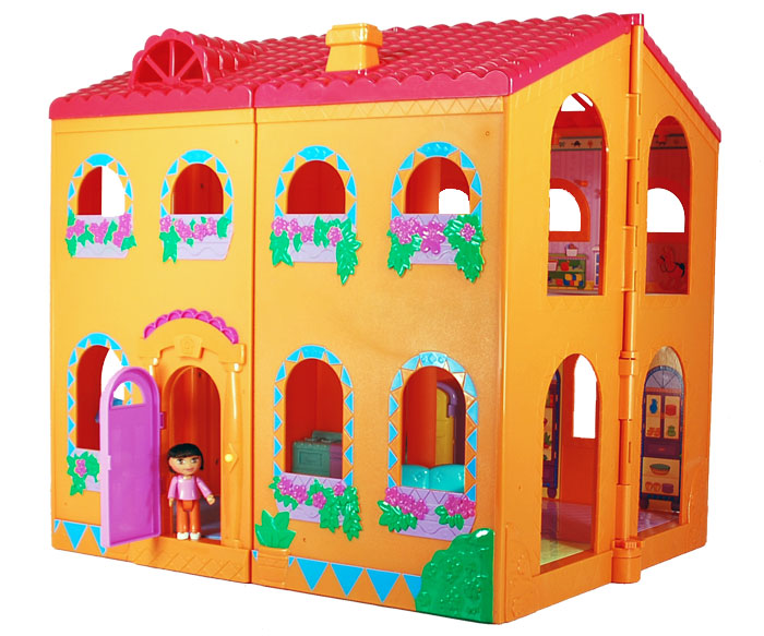 Amazon.com: Fisher-Price Dora Magical Welcome Dollhouse: Toys & Games
