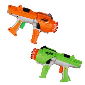 Image is loading NERF-DART-TAG-HYPERFIRE-SET-OF-2-RARE-