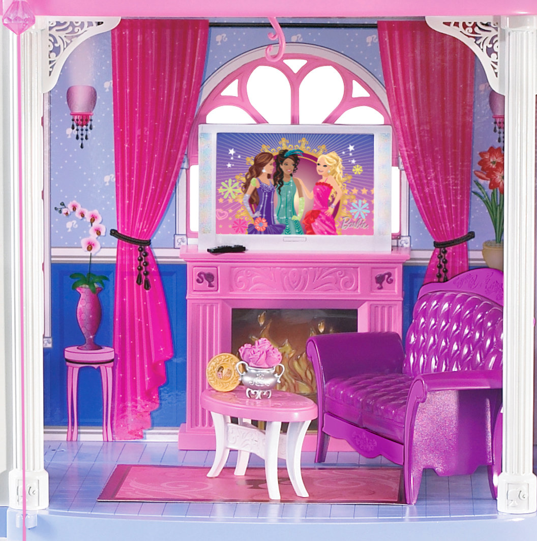 Barbie pink 3 story dream townhouse toys games for Amazon casa