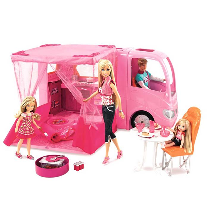 Amazon.com: Barbie Pink Glamour Camper: Toys & Games