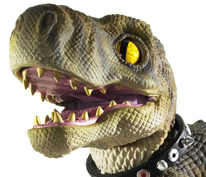 At 14 inches in height, D-Rex features over 100 realistic movements