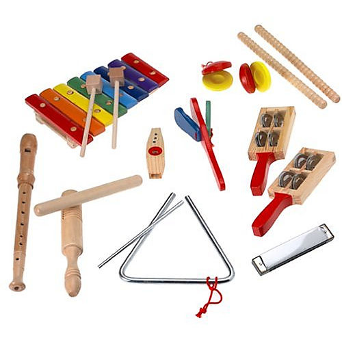 Melissa & Doug Deluxe Band Set With Wooden Musical Instruments and