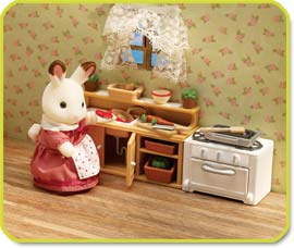 Calico Critters Townhome kitchen