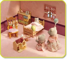Calico Critters Townhome bedroom