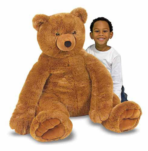 buy melissa and doug jumbo brown teddy bear plush online at low prices in india. Black Bedroom Furniture Sets. Home Design Ideas