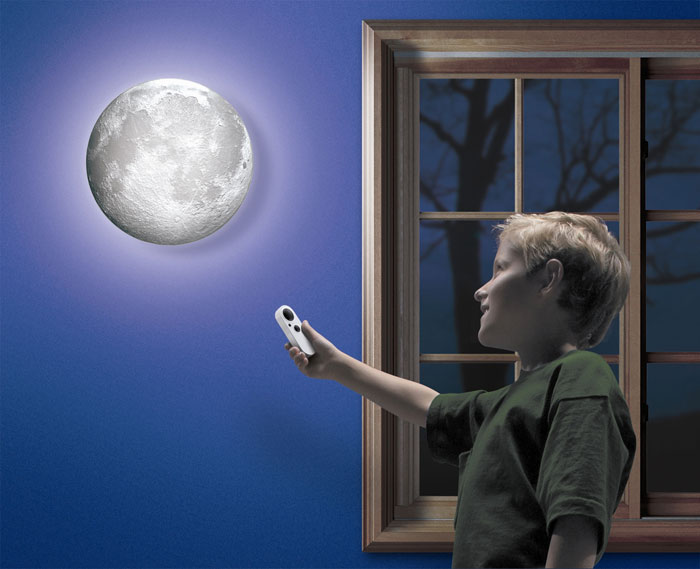 Moon in my room remote control wall dcor night light light up toys uncle milton moon in my room aloadofball Image collections