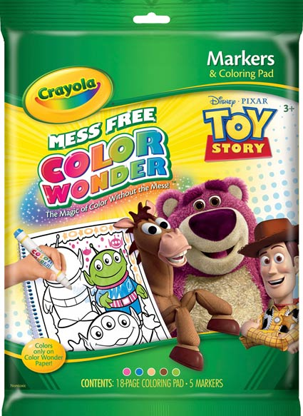 Amazon.com: Crayola Color Wonder: Toy Story Coloring Book and ...