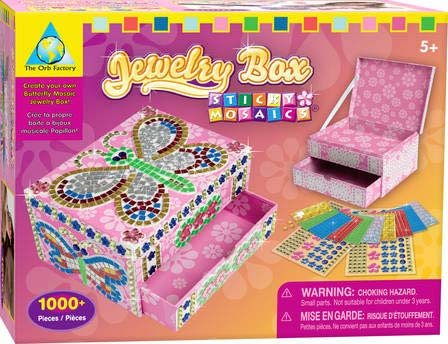 Amazoncom Orb Factory Sticky Mosaics Jewelry Box Toys Games