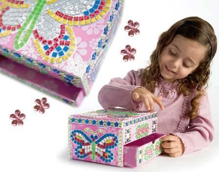 Amazoncom Orb Factory Sticky Mosaics Jewelry Box Toys Games