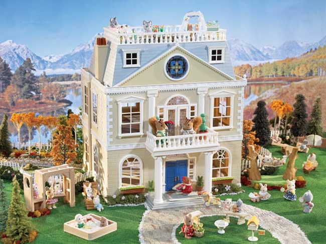 Amazon Com Calico Critters Cloverleaf Manor Toys Amp Games