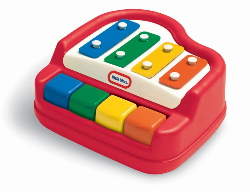 Features four colorful, easy-to-press keys for small fingers. View