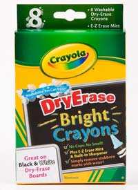 Crayola 8-Count Dry Erase Crayons, Large Size