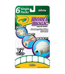 Crayola Model Magic Modeling Compound, White, 6 Half-Ounce Packs