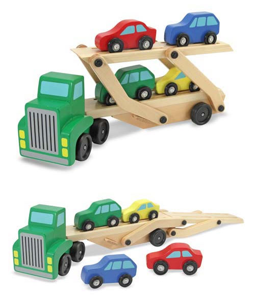 Toy Car Rack : Amazon melissa doug car carrier truck and cars