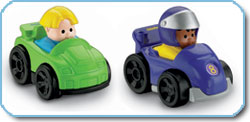 Little People - race car figures