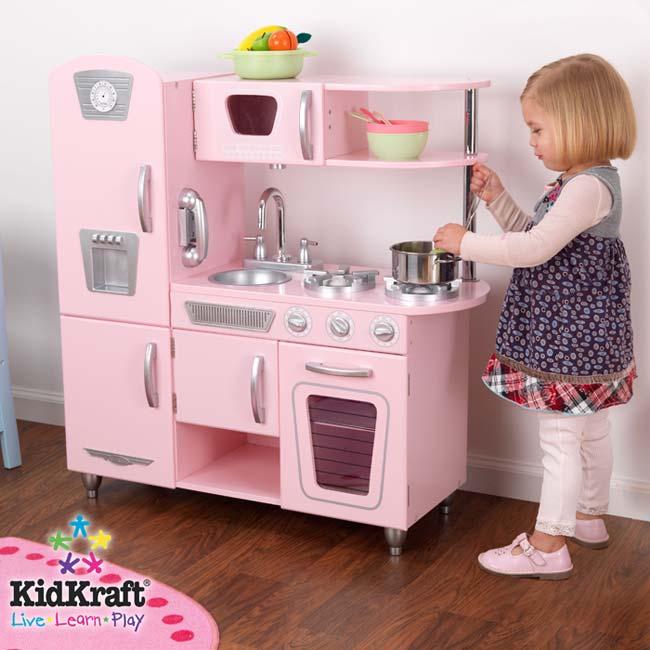 Pink Retro Kitchen: Amazon.com: Kidkraft Vintage Kitchen In Pink: Toys & Games