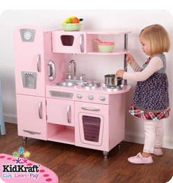 kidkraft vintage kitchen in pink - Kidkraft Vintage Kitchen