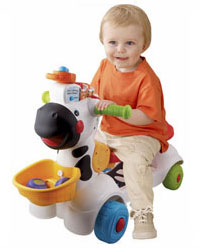3-in-1 Learning Zebra ride-on scooter