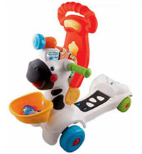 3-in-1 Learning Zebra stand-on scooter