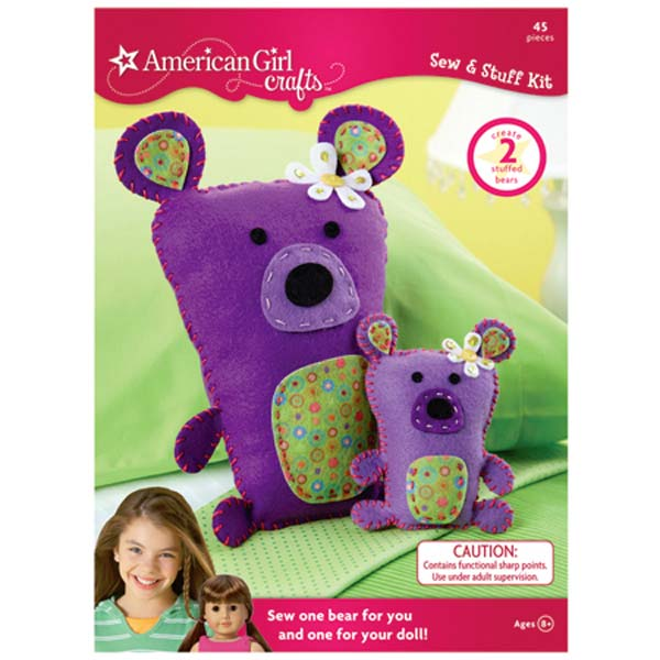 Amazon Com American Girl Crafts Bears Sew And Stuff Kit Arts