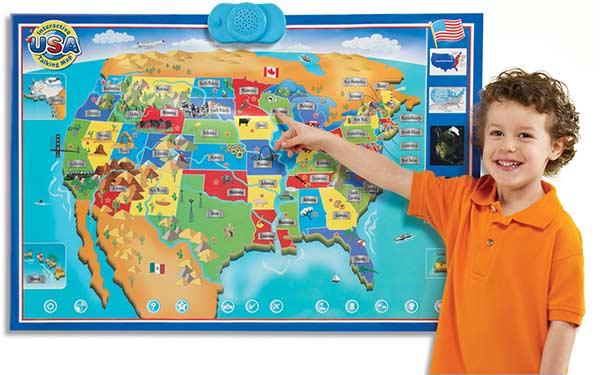 Amazoncom Zanzoon Interactive Map USA English Toys Games - Interactive us map game