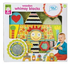Alex Jr. Wooden Whimsy Blocks Baby Toy Product Shot