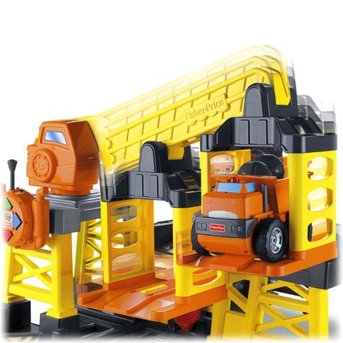 Construction Site Toys : Amazon fisher price big action construction site with