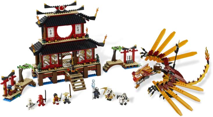 Amazon.com: LEGO Ninjago Fire Temple 2507: Toys & Games