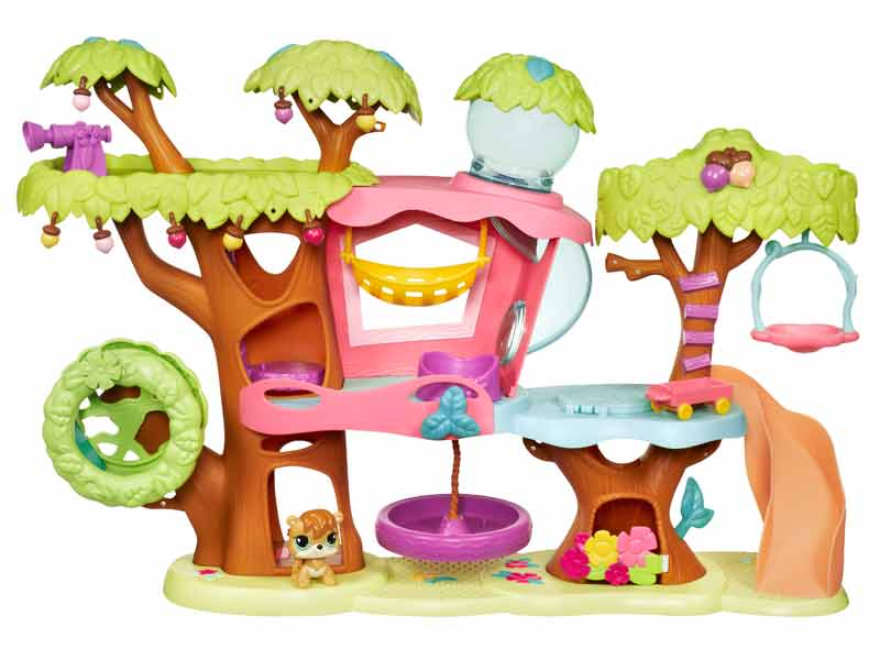 amazon com littlest pet shop treehouse playset toys games