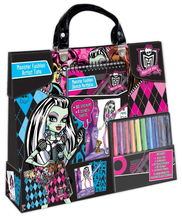 Monster High Toys : Amazon monster high artist tote compact portfolio set