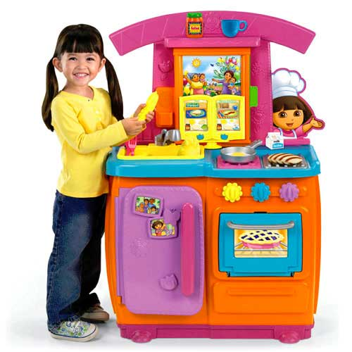 Amazon Com Fisher Price Dora Fiesta Favorites Kitchen Toys Games