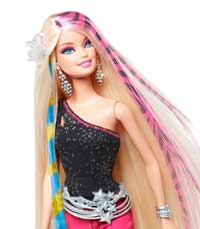 Barbie Designable Hair Extension Pack with Doll