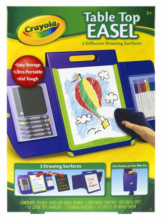 Amazon.com: Crayola Tabletop Portfolio Style Easel: Toys