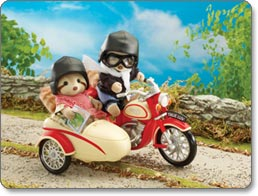 Calico Critters of Cloverleaf County Motorcycle and Sidecar