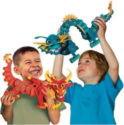 Bloco Toys Aqua and Pyro Dragons