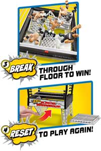WWE RUMBLERS BLASTIN' BREAKDOWN Play Set
