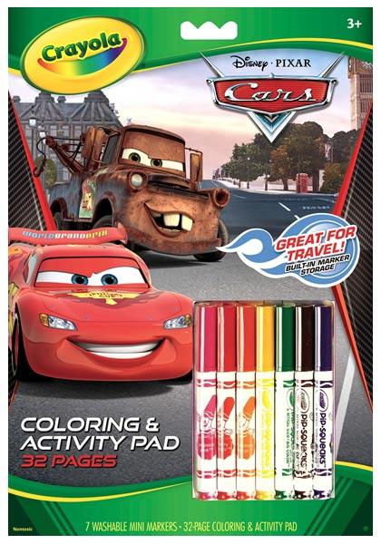 crayola disney cars coloring and activity pad - Disney Cars Books