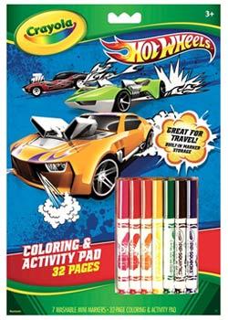 Crayola Hot Wheels Coloring and Activity Pad