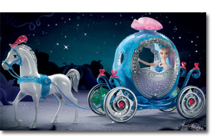 Amazon Com Cinderella Transforming Carriage Doll