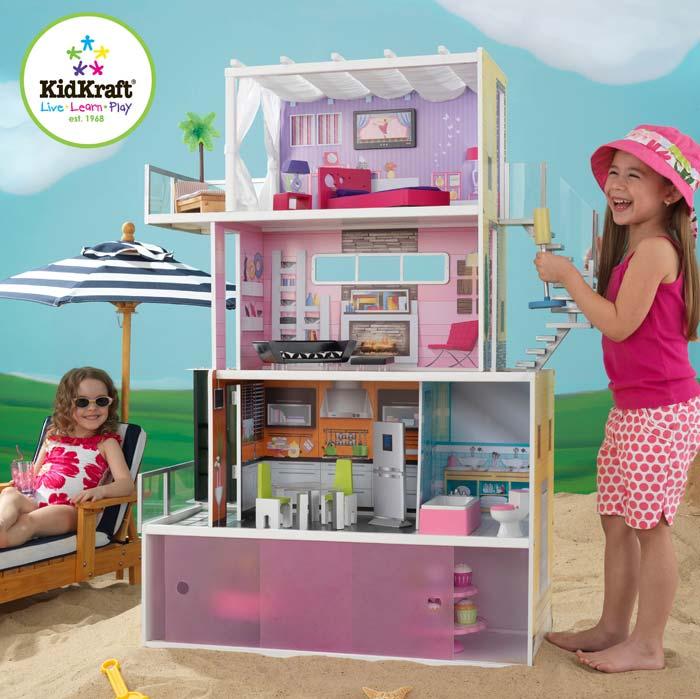 Amazon.com: KidKraft Beachfront Mansion With Furniture