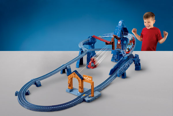 Improve motor skills and have fun with TrackMaster Risky Rails Bridge
