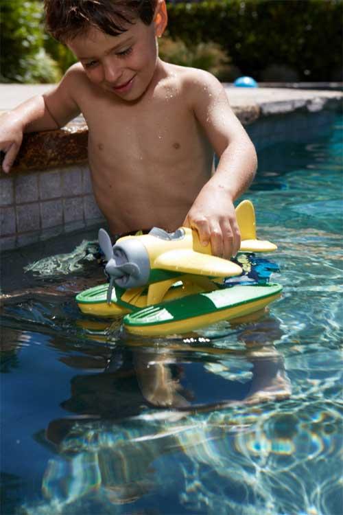 Amazon.com: Green Toys Seaplane, Yellow: Toys & Games