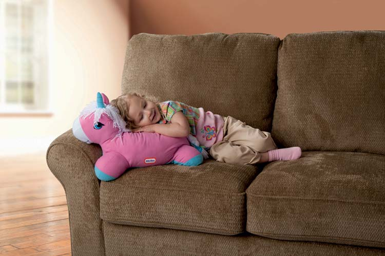 An Image of Little Tikes Pillow Racers Unicorn, Pink