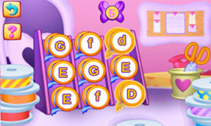 Match colors and letters to help create new bows! Difficulty level adjusts to the player's skill level for just the right learning challenge.