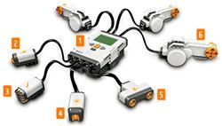 Lego Mindstorms NXT in different combinations