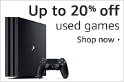 Up to 20% off used games